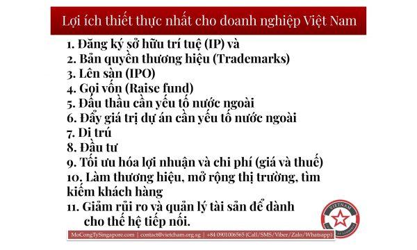 Những nhu cầu thường gặp khi SMB/Startups từ Việt Nam sang Singapore